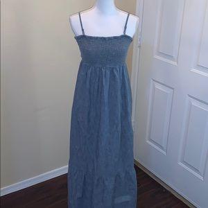 Gap chambray maxi dress